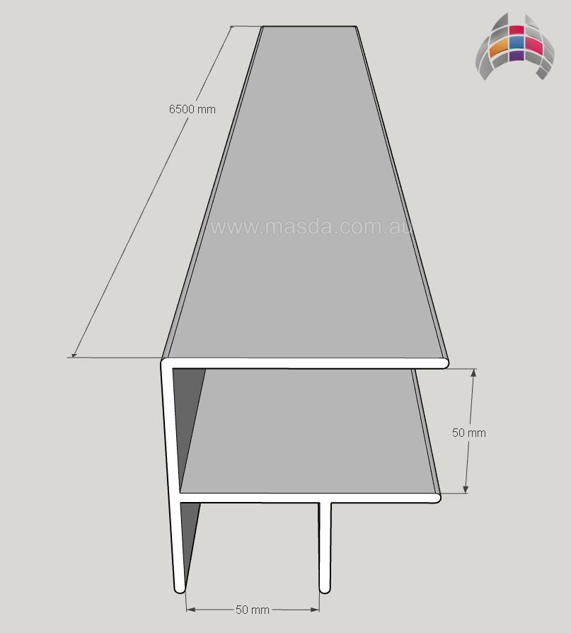 Aluminium Corner 6500mm x 50mm x 50mm 2