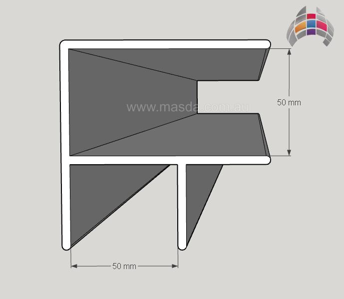 Aluminium Corner 6500mm x 50mm x 50mm