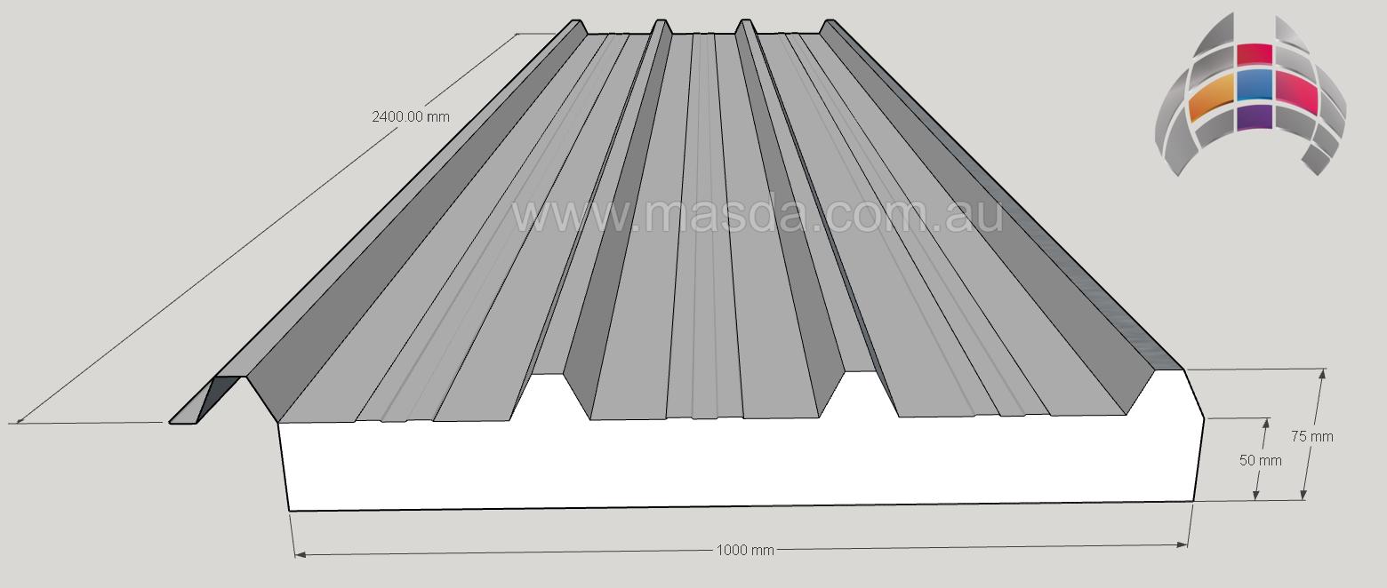 Masda Roof Panel 50mm