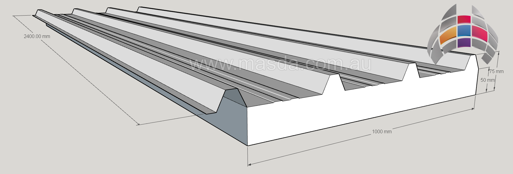 Masda Roof Panel 50mm_2