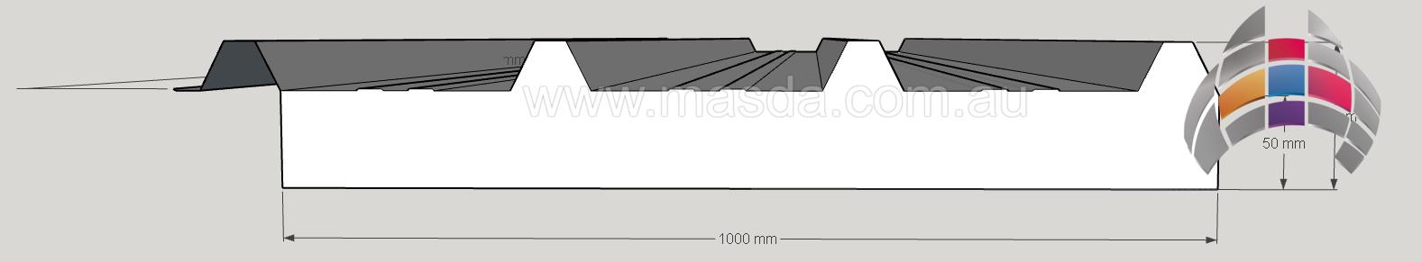Masda Roof Panel 50mm_3