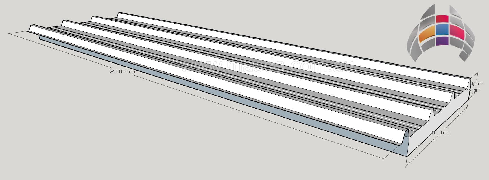 Masda Roof Panel 75mm2